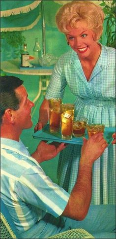 Drinks, Anyone? 1950s Happy Housewife