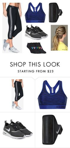 """""""Untitled #1184"""" by amanda-gail on Polyvore featuring Under Armour and NIKE"""