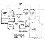 Saddle Creek 56463 - French Country Home Plan at Design Basics