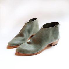 280a5cf1a564 The Terilyn. Sage. 3cm Leather Socks