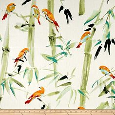 P.Kaufmann Bamboo Path Mandarin Fabric By The Yard