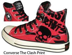 dc9b337e90b The Clash Converse Shoes... Celebrity Sneakers