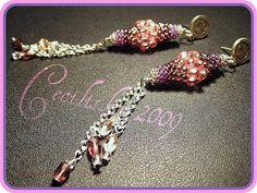 Beaded Bead TUTORIAL pattern - long pineapple Piñas de largo