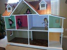 Custom Built American Girl (18 Inch) Doll House - One Of A Kind