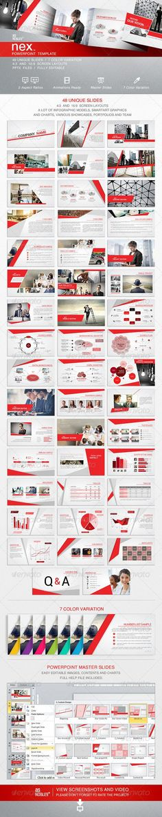 NEX - PowerPoint Template - Business Powerpoint Templates #infographics