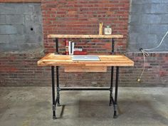 diy pipe and wood desk - Google Search