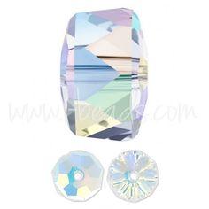 Swarovski 5045 rondelle Perlen crystal AB 8mm (2)