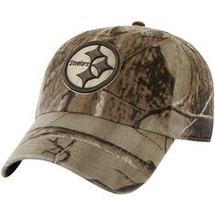 Men's '47 Brand Pittsburgh Steelers Real Tree Franchise Slouch Fitted Hat XX Large by '47 Brand. $25.95. Designed with allover Realtree® camouflage pattern. Cotton slouch hat. Stitched eyelets Officially licensed Made in China. Embroidered NFL® team logo at front panelTeam name embroidered at back. '47 Brand Pittsburgh Steelers Franchise Fitted Hat - Realtree CamoFittedUnstructured fitOfficially licensed Steelers hatSix panels with eyelets60% Cotton/40% PolyesterQuality em...