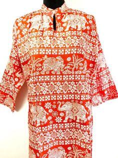 Women Ethnic Boho Kurti Kurta Tunic Dress Top Elephant Floral Print XL XXL Plus | eBay