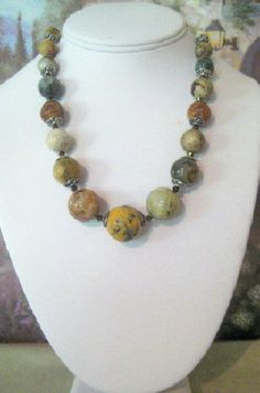 Jade Necklace with Matching Earrings      Jx5  by dkdesigns8238, $31.50