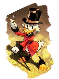 tomorrow is the new Ducktales premiere and i'm so hyped for it! XD so i drew Scrooge McDuck! The Richest Duck in the World New Ducktales, Disney Ducktales, Arte Disney, Disney Pixar, Cartoon Tv, Cartoon Characters, Bear Cartoon, Disney Channel, Tumblr Hipster