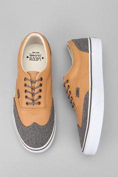 california leather and wool era wingtip sneaker ++ vans