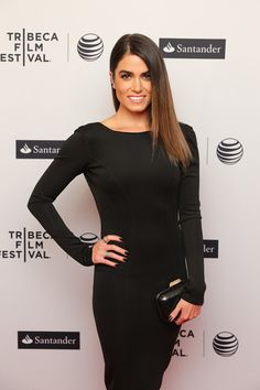 Nikki Reed - 'In Your Eyes' Premieres in NYC - Nikki Boulee black form fitting long sleeve dress featuring a low zipped back available at Shop Ambience, Clutch & Shoes: Jimmy Choo