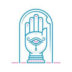 Mystic Icons 3/3: ✋ Look within the Eye of Wisdom and Your Destiny shall be Revealed. #palmreading #magic #thirdeye #vector #icon #handoffatima