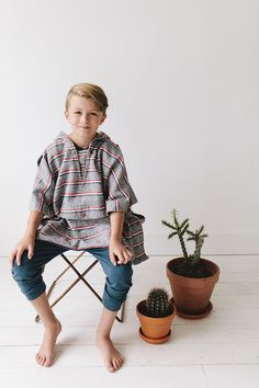 Boys fall fashion by #niconicoclothing. Love the Pancho! | Little Peanut Magazine