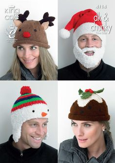 4114 | knitting Patterns | Adult Novelty Hats