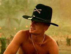 """Robert Duvall, Apocolypse Now   """"I love the smell of napalm in the morning.  Smells like.....victory""""."""