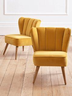 NEW Westbury Velvet Chair - Mustard