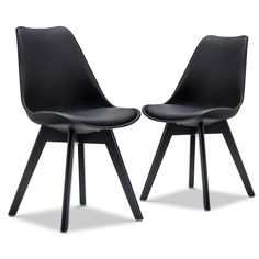 Set of 2 Brighton Dining Chairs - Black - Dining Chairs - Dining & Kitchen - Furniture