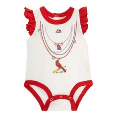 Not that I'm a St. Louis fan... but i do love the cardinal idea :)  Majestic Sports Infant Girls St. Louis Cardinals Bodysuit