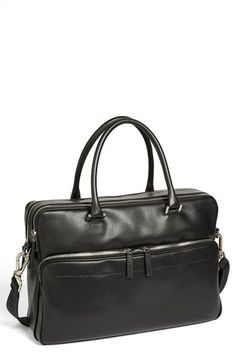 Salvatore Ferragamo 'Los Angeles' Briefcase.  Richly textured calfskin forms a handsome briefcase crafted to the highest standards to resist wear and tear and exude class.