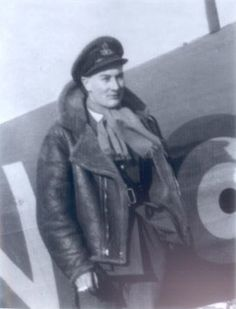 """On 27 May 1940, No 79 Squadron RAF made 2 patrols over the northern French coast. During the second, they came up against enemy fighters, with P/O Douglas G """"Dugie"""" Clift (pictured) claiming an Me 110 near Furnes and F/O Frederick JL Duus another over Dunkirk on the first full day of the evacuation. Landing back at RAF Biggin Hill they began their move to RAF Digby."""
