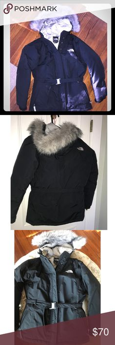 The North Face Waterproof Down Parka Jacket The North Face Waterproof Down Parka Jacket. Size is girls XL which can be compared to a women's S. I wear a small and this fits me perfectly. Removable fur trim on fixed hood The North Face Jackets & Coats