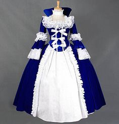 Medieval Lady Gothic Victorian Halloween Lace Ball Lolita Dress Cosplay Costume