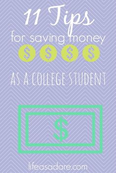 Money saving can be stressful in college, but there are so many little ways to spend smart! Here are some great tips for college students to save money! save money in college, fast ways to save money