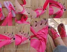 Make your own Ribbon sandals – Drama Queen Seams