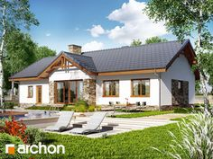 Dom w nerinach Home Fashion, Cabin, Mansions, House Styles, Home Decor, Log Homes, Decoration Home, Manor Houses, Room Decor
