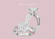 Two lives intertwine and meet as one.   Ribbons of Pink and White Diamonds connect in a scintillating 5.03ct explosion of love and desire.View 'Illuminata' in the Calleija Engagement Collection.