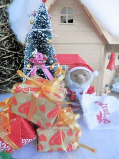 Noël 2014 dans mon village sylvanian families Noël 2014
