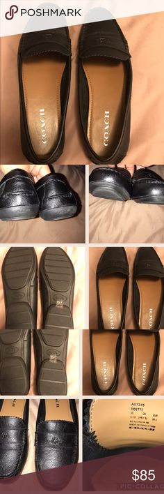 Coach Odette Purchased these two weeks ago from Dillard's for $98. Worn only once and they hurt my feet. I threw the box away without thinking so I can't exchange them. I typically wear 9 1/2, but Coach varies. NO FLAWS. Coach Shoes Flats & Loafers