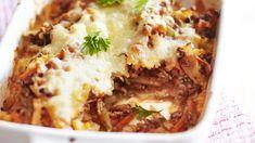 Syö sekä edullisesti että hyvin. Tämäkin resepti vain noin 1,85 €/annos. Lasagna, Mashed Potatoes, Dinner, Ethnic Recipes, Koti, Lasagne, Whipped Potatoes, Suppers, Smash Potatoes