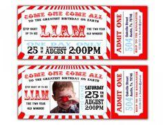Invitaciones para Fiestas Circo | Fiestas infantiles y cumpleaños de niños