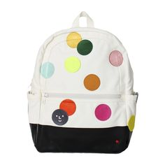 STATE Backpack with DIY Patch Polka Dots– Color Factory Diy Patches, American Children, Canvas Backpack, Pen Holders, Polka Dots, Things To Come, Backpacks, Mini, Dot Dot