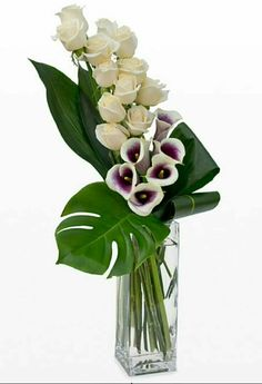 Flowers Arrangements Orchids Ikebana Ideas For 2019 Arrangements Ikebana, Modern Flower Arrangements, Flower Centerpieces, Flower Vases, Flower Decorations, Tall Centerpiece, Deco Floral, Arte Floral, Fresh Flowers