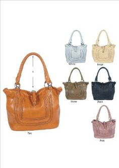 Designer Inspired Benetton Tote/Handbag - Colors Available $29.99 Free Shipping