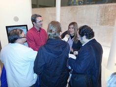 Entrevista de los medios a @GemaGarrido y @latrinchera #sienteTeruel