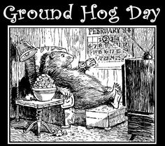 the groundhog awaits his special holiday,