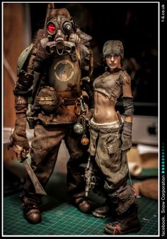 Snow Corporation The UK's supreme sci-fi toy build Character Concept, Character Art, Concept Art, Character Design, Cyberpunk, Fallout, Mad Max, Post Apocalyptic Fashion, Toy Art