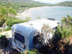 Approach Autograph 765 enjoying sea view at camping Laconella, Elba, Italy