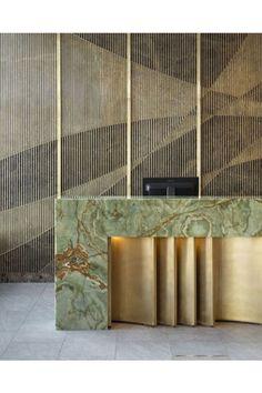 Hotel Reception Desk, Reception Desk Design, Reception Counter, Hotel Lobby Design, Best Office, Counter Design, Luxury Homes Interior, Lounge, Office Interiors
