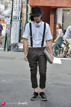 120816-1072: Japanese street fashion in Harajuku, Tokyo (Umitos, Raf Simmons, RAF by Raf Simmons, Mawi)