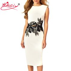 Hkaiy Brand New Summer Style Brief Women Sheath Sleeveless Dress Mid Calf Package Hip Dresses Vestidos Without Sashes, S, M, L-in Dresses from Women's Clothing & Accessories on Aliexpress.com | Alibaba Group