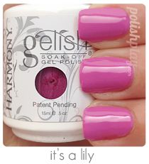 Gelish gel nail polish swatch and review. It's a lily www.polishplay.com