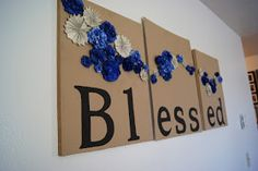 Love this wall-art. perfect for our living room color scheme (tan, chocolate brown, and blue)