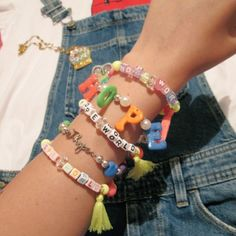 Cute Jewelry, Diy Jewelry, Beaded Jewelry, Jewelery, Jewelry Accessories, Fashion Accessories, Beaded Bracelets, Mode Kpop, Accesorios Casual
