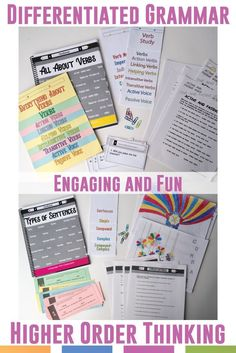 Add color to grammar lesson plans with coloring, flipping books, scaffolded practice, and scrambles. Grammar should be both fun and meaningful.
